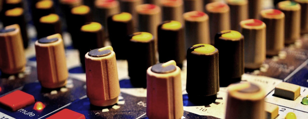 Newcastle wedding PA hire Closeup of mixing desk